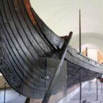 Detalle del casco de un barco en el Museo de Barcos Vikingos de Oslo