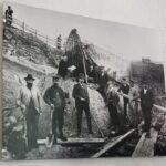 Foto de las excavaciones para recuperar los barcos vikingos