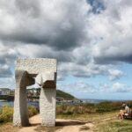 Ara Solis de Silverio Rivas en el parque escultórico de la Torre de Hércules en A Coruña