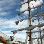 Gran barco velero en la concentración Tall Ships 2012 en A Coruña en Galicia