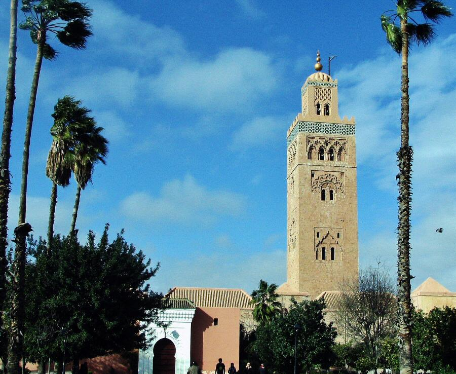 Koutoubia de Marrakech en Marruecos