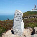 Placa en el Cabo de Roca en Costa Estoril cerca de Lisboa
