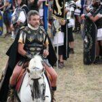 General Agripa ante las legiones romanas en las Guerras Cántabras