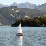 Vistas panorámicas del Lago de Lucerna en Suiza