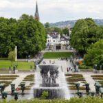 Vista panorámica del parque Vigeland en Oslo