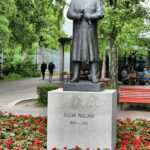 Escultura dedicada a Gustav Vigeland en el parque Vigeland en Oslo