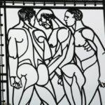 Figuras en puerta de hierro del parque Vigeland en Oslo