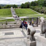 Panorámica del parque Vigeland en Oslo