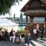 Puente medieval de madera de Lucerna sobre el río Reuss
