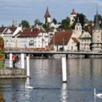 Vistas panorámicas de Lucerna en Suiza