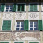 Frescos en fachadas de edificios del casco viejo de Lucerna