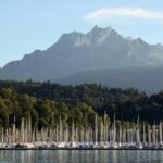Paisajes del lago Lucerna en Suiza