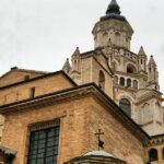 Vista exterior del cimborrio de la Catedral de Tarazona en Aragón