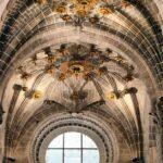 Detalle del techo del transepto de la Catedral de Tarazona en Aragón