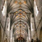 Decoración del techo de la nave central de la Catedral de Tarazona en Aragón