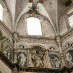 Detalle decorativo del cimborrio de la Catedral de Tarazona en Aragón