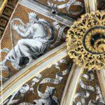 Decoración de la bóveda de la cabecera de la Catedral de Tarazona en Aragón