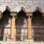 Rincón decorativo en la cabecera de la Catedral de Tarazona en Aragón