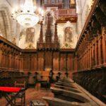 Sillería del coro en la Catedral de Tarazona en Aragón