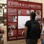 Exposición sobre las obras de restauración en el claustro de la Catedral de Tarazona