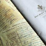 Documentación histórica en la carta de la cafeteria del Hotel Palacio en Estoril