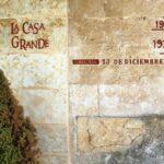 Marcas de riadas históricas del río Tormes en la Hacienda Zorita cerca de Salamanca