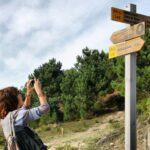 Señalización de la ruta de senderismo Caminos do Mar de Ponteceso en Costa da Morte