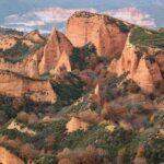Vistas panorámicas de Las Médulas desde el mirador de Orellán en el Bierzo