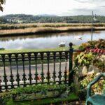 Rincón del jardín de la casa natal de Eduardo Pondal en Ponteceso en Galicia