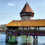 Puente medieval de madera en Lucerna