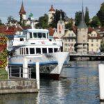 Centro histórico medieval de Lucerna a orillas del lago