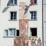 Fachada decorada en edificio de Lucerna