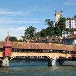 Puente de madera en Lucerna
