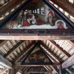 Pinturas en el interior del puente de madera en Lucerna