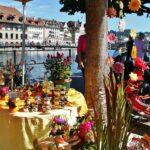 Mercadillo de flores en Lucerna