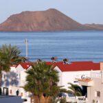 Isla de Lobos desde Corralejo en Fuerteventura en las islas Canarias