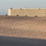 Atardecer en las Dunas de Corralejo en Fuerteventura en islas Canarias