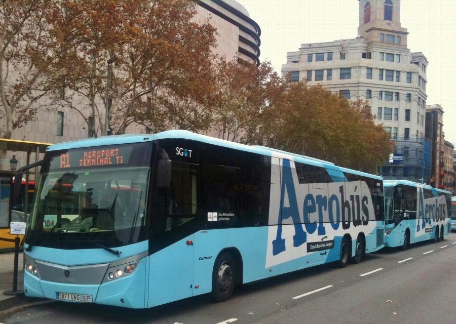 Aerob s entre aeropuerto y barcelona gu as viajar - Autobus madrid puerto de santa maria ...