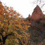 Paisajes otoñales en Las Médulas en el Bierzo leonés