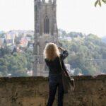Torre de la catedral de Friburgo en Suiza