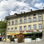 Edificio en el centro histórico de Friburgo en Suiza