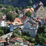 Vistas panorámicas del barrio de Planche en Friburgo