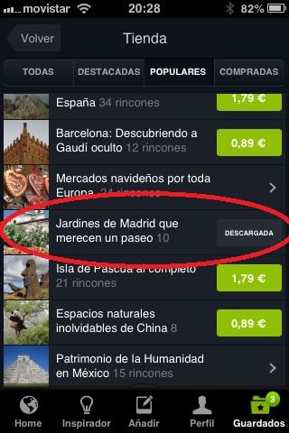 Listas de rincones en la nueva tienda de la app de viajes de Minube