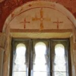 Pinturas del ábside de la iglesia de San Salvador de Valdediós en Asturias