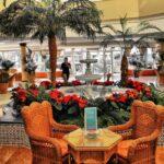 Salón cafetería del Hotel Barceló Corralejo Bay en Fuerteventura