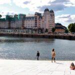 Vistas de Oslo desde la plataforma de la Opera