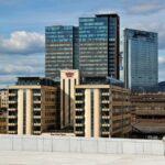 Edificios del barrio de Bjorvika desde el techo de la Opera de Oslo