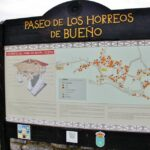 Paseo de los hórreos de Bueño en Asturias
