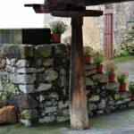 Rincón de un hórreo de Bueño en Asturias