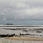 Costa de la isla de Aix al oeste de Francia